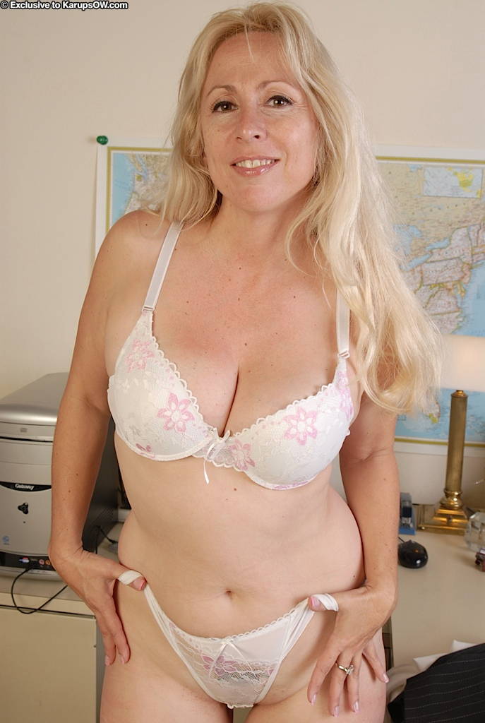 Small mature breasts